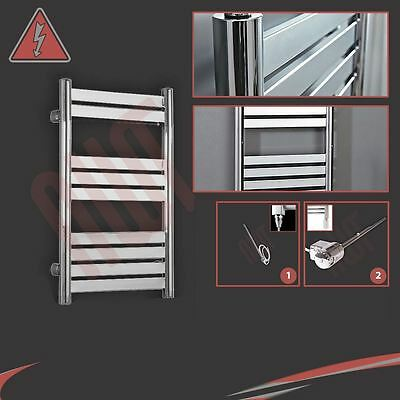 "500mm(w) x 800mm(h) ""Terra"" Electric Chrome Designer Towel Rail Radiator 150W"