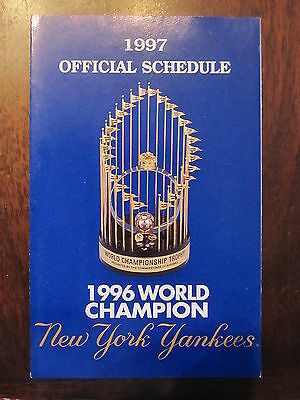 NEW YORK YANKEES 1997 POCKET SCHEDULE MLB BASEBALL
