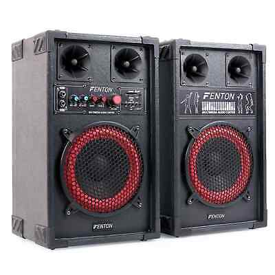Aktives Dj Pa Bass Boxen Lautsprecher Set 400W Party Sound System Usb Sd Mic In