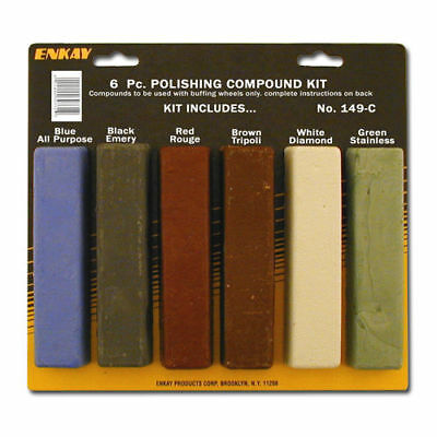 Metal & Plastic Polishing and Buffing Compound Kit 6 pc