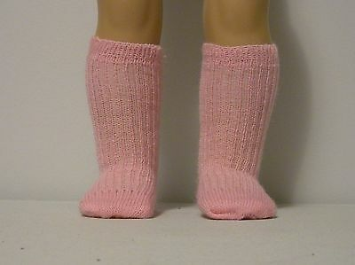 Fits 12 Inch Tiny Tears Doll .... Pink Ribbed Socks .... S0