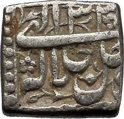 1556AD Mughal Empire of India Akbar Antique Islamic Muslim Silver Coin i44967