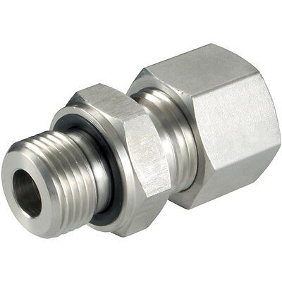 """316 Stainless Steel Compression Fittings - 25Mm Od X 1"""" Bspp Male Stud (S) Viton"""