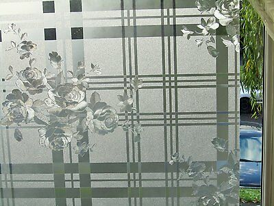 Frosted Textured Etched Glass Static Decorative Vinyl Privacy Window Film