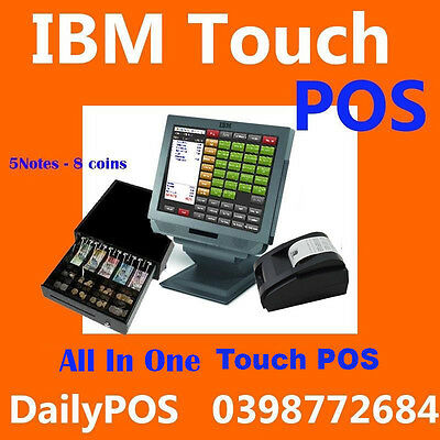 Complete Touch Screen Point of Sale System POS software Cafe Takeaway fish Chips