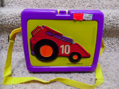 1988 Racer 10 Plastic Lunchbox & Thermos with Tag & Strap. One's Co.