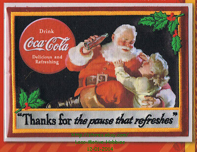 LMH PATCH Badge 1938 COKE SANTA CLAUS  Pause Refreshes COCA COLA Christmas W&W