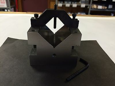"Atco Precision VB-34  4X3X3  Vee Block,  2-1/4"" Capacity, NOS, USA Made"