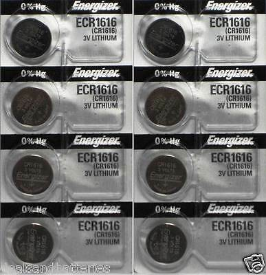 8 Pieces CR1616 CR 1616 3 Volt Lithium Battery By Energizer