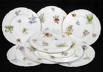 Set of 8 Sevres China Dinner Plates, C.1920s, Marked