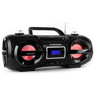 Portable Boombox Stereo Speaker Ghetto Blaster Sound System Fm Am Bluetooth Usb