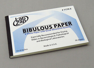 Lab Zap Bibulous Paper Pack of 50 Sheets 4 x 6 Inch - Made in USA