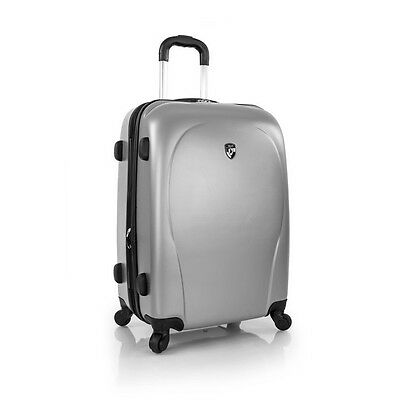 """Heys America xCase 21"""" Spinner 4 Wheeled Carry On Luggage - Silver"""