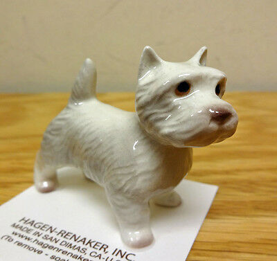 ➸ HAGEN RENAKER Dog Miniature Figurine West Highland White Terrier Westie