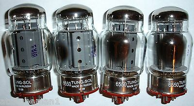 6550 Tung-Sol reissue tubes matched quad CRYO treated KT88  new unused