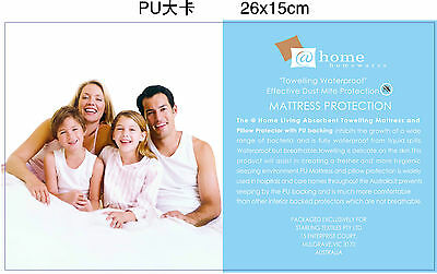 Cotton Terry Towelling Waterproof Mattress Protector 40CM Fully Fitted Washable