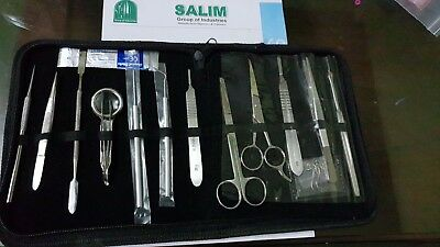 Dissecting kit lab equipment - stainless steel 13 piece
