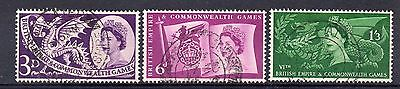 GB = 1958 Commonwealth Games set/3. SG 567/9. VERY FINE USED. (a)