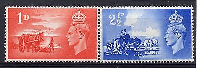 GB = CHANNEL ISLANDS General Issue. 1948 Liberation set/2. SG C1/2. MNH.