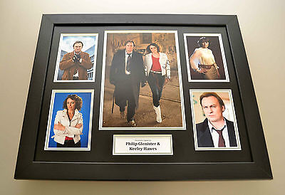 Keeley Hawes & Philip Glenister Signed Photo Large Framed Autograph Display +COA