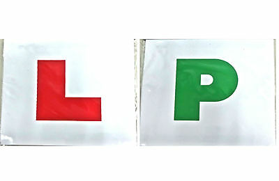 Magnetic learner driver plates - Easy removable L & P signs for new drivers
