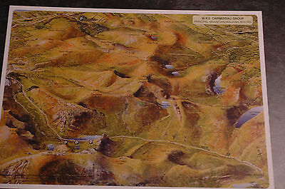 3D Aerial Panoramic A4 Fell Walking Map of Snowdonia No5 Unusual Gift Idea