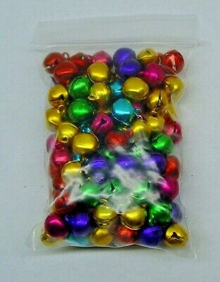 LOT 1000 Aluminum JINGLE BELLS Christmas Theme Beads Charm 12mm (Five Color Mix)