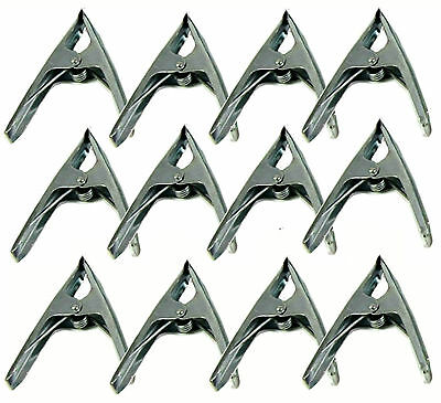 "12 x 6"" Market Stall Spring Clamps Large Metal Heavy Duty Clips Tarpaulin Sheet"
