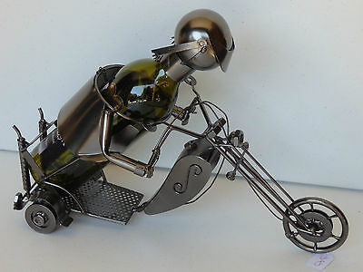 novelty gift metal wine bottle wine rack chopper man cave bar accessories