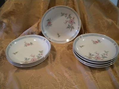 Set of 8 Cereal/Soup Bowls PEONIES #3912 Fine China Made in Japan