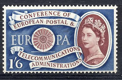 GB = 1960 1/6d EUROPA. SG Spec. W15b Major Retouch above PA. R9/2. MH.