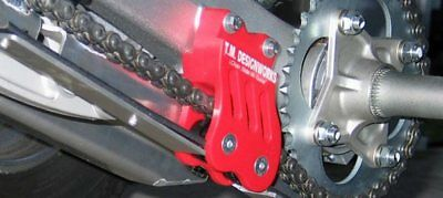 TM Designworks Chain Guide With Dual Rollers Red TRX450R