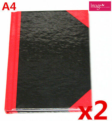 2pcs Hard Cover 80 Sheets A4 Note Book Writing Book Home School Office (F430x2)