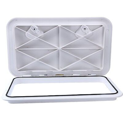 PERFECT!!! 607mm x 243mm Boat  ACCESS HATCH & LID  -Marine Caravan /RV -White