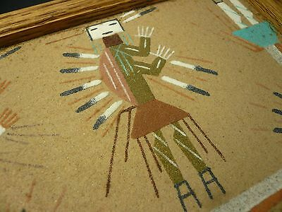Authentic Navajo Yeis Sandpainting Wooden Box Mint Condition