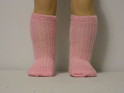 Fits 15 Inch Tiny Tears Doll .... Pink Ribbed Socks.... S0