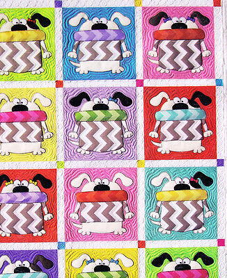 Dogs & Cats - fun pieced & applique quilt PATTERN from Amy Bradley