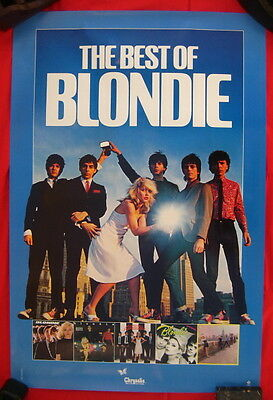 Blondie 1981 poster THE BEST OF BLONDIE flawless condition ENTIRE GROUP