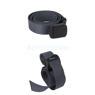 2pcs Outdoor Survival Belt Webbing Waist Belt Waistband Strap Buckle 115cm