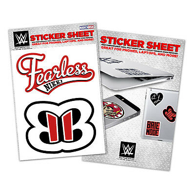 WWE Nikki Bella Vinyl Sticker Sheet [NEU] Aufkleber Bellas Twins