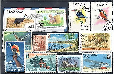 TANZANIA / TANGANYIKA = New selection of FINE USED stamps. (Oc21s)