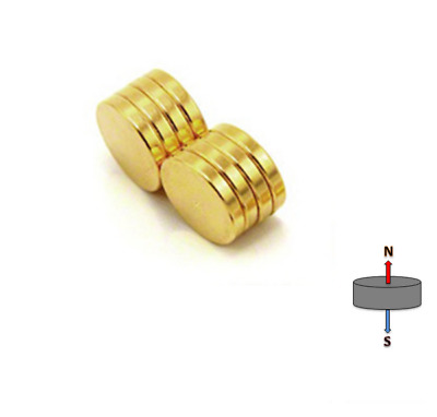 50x GOLD 6mm X 2mm N45 Strong DISC Magnets | Neodymium Rare Earth | Model Doll
