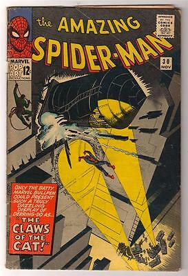 MARVEL Comics 4.0 VG  SPIDERMAN SILVER age #30 1965 AMAZING