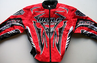 NEW KIDS WULFSPORT 11-13 Age MOTOCROSS TRIALS RED JACKET COAT YOUTH QUAD CR CRF