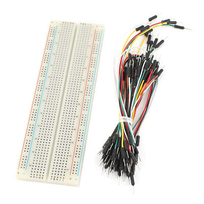 830 Tie Points Solderless PCB Breadboard MB102+65Pcs Jumper cable wires
