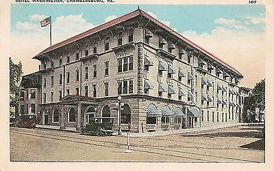 Hotel Washington Chambersburg PA Postcard