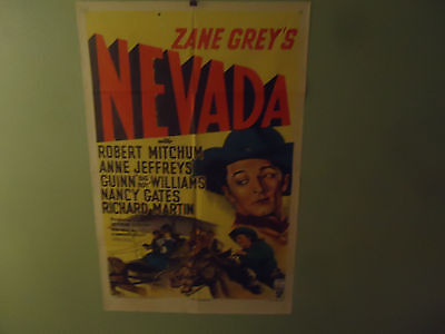"1951 Nevada Original Movie Poster 27"" x 41"" Robert Mitchum"