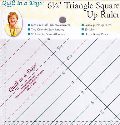"""6.5"""" Triangle Square Up ruler - easy to use, no math cutting"""