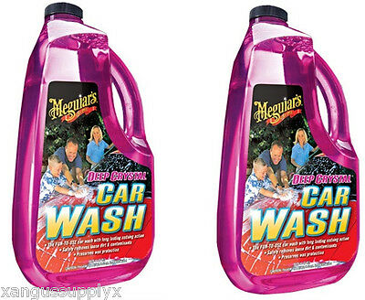 Meguiars G10464 Deep Crystal Detailers Car Wash Soap Shampoo - 64 Oz  2 Pack
