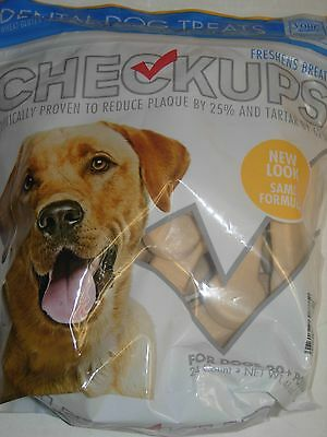 6 LBS of Checkups Dental Dog Treats Reduces Plaque by 25% 20 lb or Larger Dogs